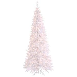 christmas tree vickerman white slim fir tree with 500 clear light by 40 inch - White Slim Christmas Tree