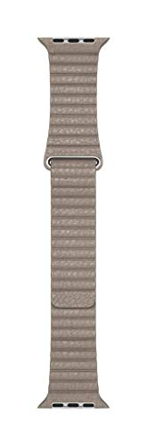 Leather Band Stones - Apple Watch Leather Loop Band (44mm) - Stone - Medium