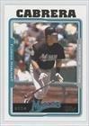 2005 Topps Baseball Card # 240 Miguel Cabrera Florida Marlins