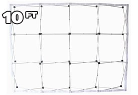 (10 Ft Fabric Pop Up Trade Show Display Frame Package - Straight Single Side)