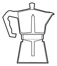 Kabalo 350ml (6-cup) Espresso Stove Top Coffee Maker - Continental Moka Percolator Pot Aluminium