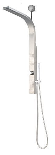 Luxier SP19-SS Stainless Steel Rainfall Shower Panel Rain Ma