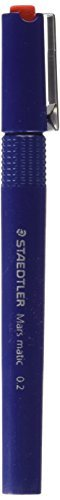 Staedtler Mars matic 700 Technical Pen with Tubular Tip - 0.2 mm by Staedtler