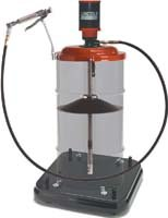 Lincoln Lubrication 9917 50:1 Heavy Duty PMV Grease Pump with Caster Base for 120 lbs. Drums (Drum Pump Pneumatic)