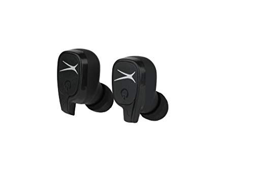Altec Lansing MZX635 True Wireless Earbuds, True Connect Truly Wireless Headphones, Includes Portable Pocket-Sized Charging Case, IPX4 Waterproof Rating, Black (Best Wireless Headphones Under 200)