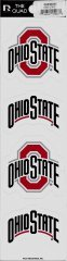 Ohio State Buckeyes Quad Decal Set (Ohio Decal Set)