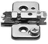 0mm Cabinet (Pro Pack of 20Pcs, Clip Wing Plate, 0Mm, Cam Height Adjustable, Screw-On)