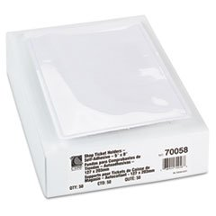 Self-Adhesive Shop Ticket Holders, 5 X 8, 50/bx By: C-Line