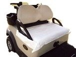 Nif Tee Seat NTSOWT Golf Cart Seat Cover, 100% Cotton Terry Cloth, Fits All Standard Golf Carts Off (White)