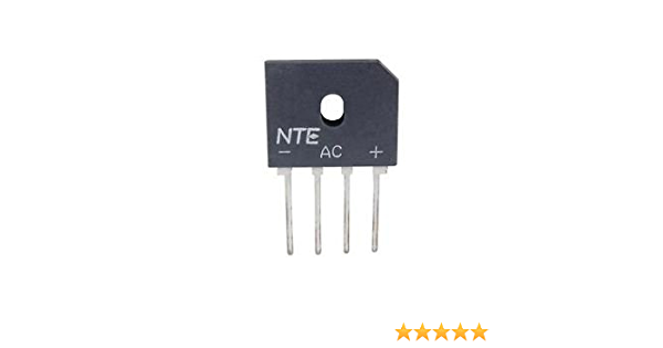 NTE Electronics NTE5805 Silicon Axial Lead Standard Recovery Rectifier 500V DO27 3 Amp Current Rating