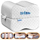 Knee Pillow, Shizzz Orthopedic Memory Foam Leg Pillow for Side Sleepers, Pregnancy - Contoured Wedge Pillow with Removable Cover and Ear Plugs, Ideal for Sciatica Relief, Back, Leg, Hip and Joint Pain