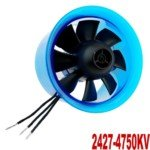 Mystery HL5508 2427-4750KV Motor with 55mm Ducted Fan for RC Helicopter(Blue)
