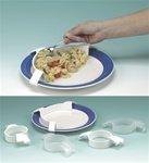 Alimed Large Plastic Plate Guard, White , 12 Per Case