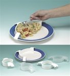 Alimed Large Plastic Plate Guard, White , 30 Per Case by AliMed