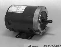 Marathon J052 56J Frame Open Drip Proof 56T34D5370 Jet Pump Motor, 2 hp, 3600 rpm, 208-230/460 VAC, 3 Phase, 1 Speed, Ball Bearing, C-Face with Base