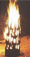Feuersäule/Feuerkorb geflammt in Edelrost 120cm