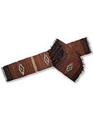 """72"""" Diamond Leather Table Runner & 8 Placemat Set"""