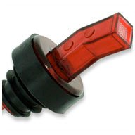 WIDGETCO Red Plastic Pour Spouts w/ Bug Screen & Grip Collar