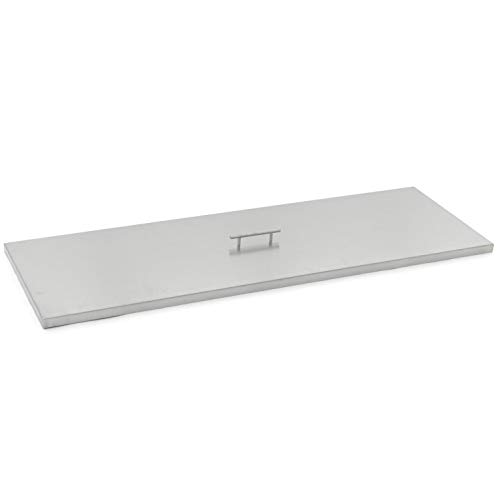 Lakeview Outdoor Designs 51-Inch Stainless Steel Burner Lid – Fits 48-Inch Rectangular Fire Pit Pan