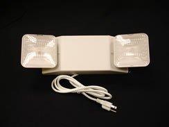 Lightworld 2-head Emergency Light with 6' Cord/plug, 90 Minute Battery (2 Head Emergency Light)