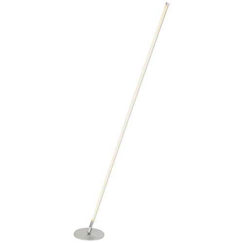 Brightech Tilt LED Floor Lamp for Living Rooms - Get Compliments: Modern Standing Pole Light for Family Rooms, Bedrooms & Offices - Bright, Dimmable Contemporary Lighting - Platinum Silver by Brightech