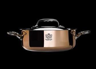 de Buyer 6241.28 11 in. Copper Saute Pan with Lid by De Buyer (Image #1)