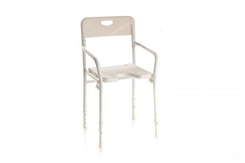 Sedia per doccia con schienale pieghevole: amazon.it: salute e