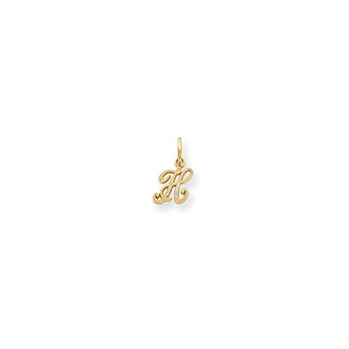 14ky Casted Initial H Charm, 14 kt Yellow Gold