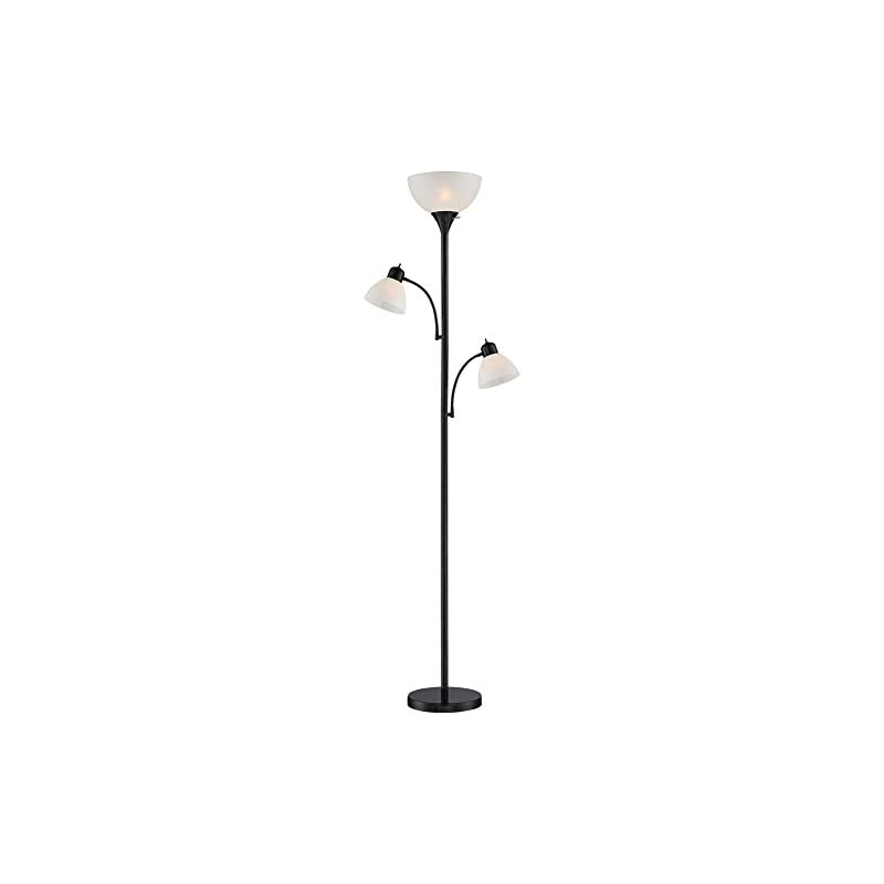 Bingham Black Tree Torchiere 3-Light Flo