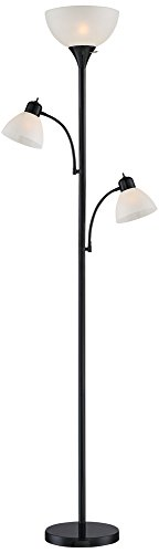 Bingham Black Tree Torchiere 3 Light Floor Lamp (Large Image)