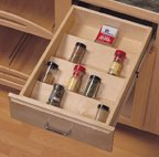 Drawer Tray Inserts, Wood with Birch Veneer Finish, 1-13/16