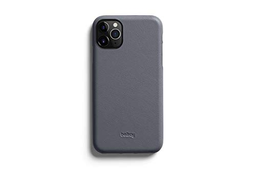 Bellroy Phone Case for iPhone 11 Pro Max (Leather iPhone 11 Cover, Super Slim Profile, Soft Microfiber Lining) - Graphite