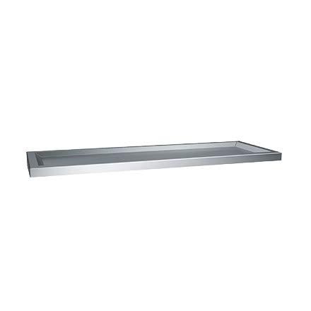 ASI 0690-24, Shelf, 6'' x 24'', St. Stl, Raised Edges