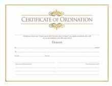 Certif-Ordination-Deacon w/Gold Embossing (Package of 6) by Broadman - Certificate Ordination