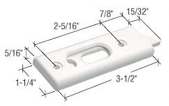 CRL White Tilt Window Latch; 2-5/16