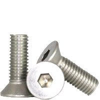 Hex Screw - Allen Screw - Flat Head Socket Screw - Stainless Steel (18-8) - 3/8''-16 x 1-1/2'' (Quantity: 100), Drive: Hex Socket, Head: Flat Head