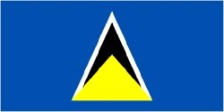 Novelties Direct St. Lucia/St. Lucian Flag 5ft x 3ft (100% Polyester) With Eyelets For Hanging Worldwide