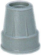 Gray Tips, Pair, Fits 3/4'' Diam Canes (1 Pair)