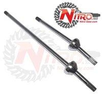 Nitro AXTBIRF-FJ80KIT Silver Chromoly Birfield Axle Kit (80 Series, 30/24(big)/30 Spline Front) ()
