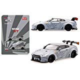 Mini GT 1/64 Liberty Walk Works Sora Nissan GT-R R35 Type I Zero Matte Grey Diecast Model Car ()