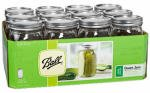 Ball Wide Mouth Glass Preserving Jars Quart (32-Ounce) Jars - Set of 12 Ball Wide Mouth Quart (32-Ounce) Glass Preserving Jars are ideal for fresh preserving whole fruits and vegetables like peaches and green beans. Enjoy homemade p...