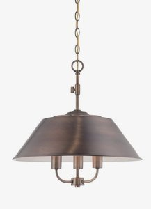 Brass Satin Fountain - Designers Fountain 85431-OSB Newbury Station Inverted Pendant, Old Satin Brass by Designers Fountain