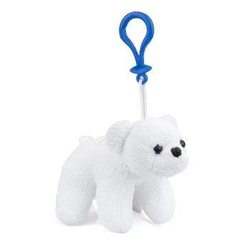 (Stuffed Polar Bear Clip Toy Keychain By Wild Life)