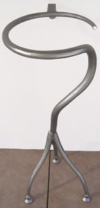 Abstract Contemporary Whimsical Iron Pedestal Black