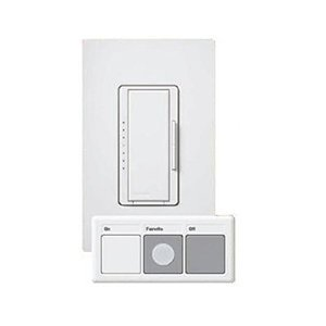 Lutron MRF-600MT-HW Maestro 600W Preset Smart Dimmer Package White and PICO Remote SKU MRF-600MT-WH