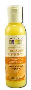 massage cream tangerine grapefruit