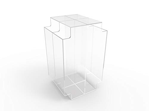 - FixtureDisplays Acrylic Breakfast Cereal Box Display Gravity Candy Bin Dry Food Bin Dispenser Bulk Display Bin