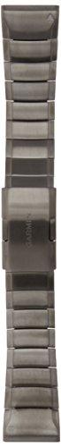 Garmin - Bracelet Acier Inoxydable Gris pour Fēnix 5 - QuickFit - 22 mm
