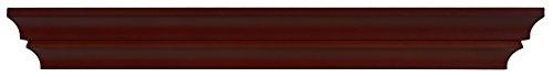 Kiera Grace Madison Contoured Wall Ledge & Shelf, 24-Inch, Espresso ()