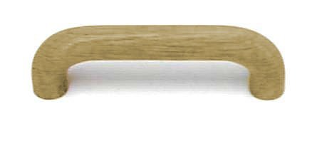 Solid Oak Wood Unfinished Bow Drawer Pull Handle Centers: for sale  Delivered anywhere in USA